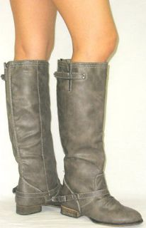 grey riding boots in Boots