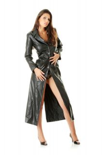 Very Sexy Ladies Pure Buttersoft Leather Full Length Trench Coat (T3)