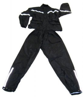 New Hawg Hides 2PC Full Motorcycle Rain Suit ( Medium )