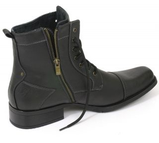 Mens Fashion High Ankle Boots Dress Leather Lined Shoes Lace Great