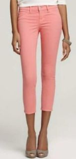 CORAL Skinny Capri Crop Jeans 835 Mid Rise RETRO 30 Salmon Pink NEW