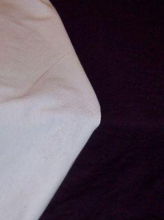 Stretch knit fabric lightweight 95% cotton 5% lycra white black