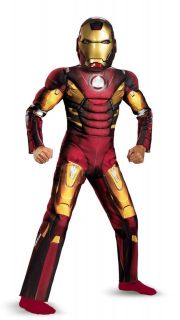 Light Up Boys Iron Man Costume Ironman Suit Avengers Movie Kids Childs