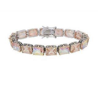 Folly Silvertone & Goldtone Champagne Star Shine Link Bracelet $92