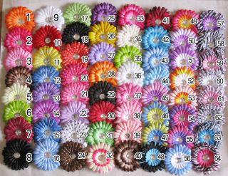 LOTS 4inch peony/zebra/daisy flower baby girls hair bows clip U PICK