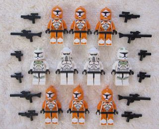 10 LEGO STAR WARS CLONE TROOPER MINIFIG LOT figures NEW 7913