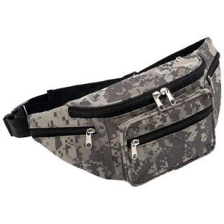 Digital Camo Camouflage Water Repellent Fanny Pack Waist Belt Bag