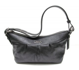 Coach F15512 Black Ashley East West Leather Duffle Shoulder Bag