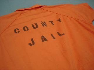 Inmate Jail Prisoner Convict Costume Orange Jumpsuit 3XL