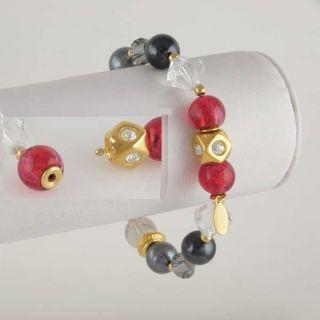 gold beaded stretch bracelets