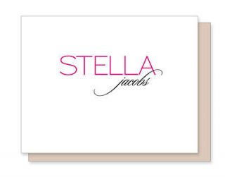 10 Personalized Custom Stationery Name NOTE CARDS   Modern Elegant