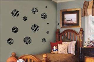 Animal Print Dots Circles Wall Sticker Vinyl Decal Jungle Room Decor