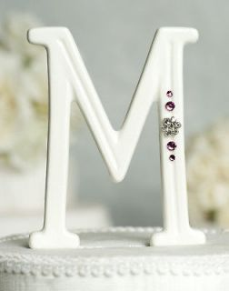 Silver Crystal Monogram Large Letter S Wedding Cake Topper Caketop