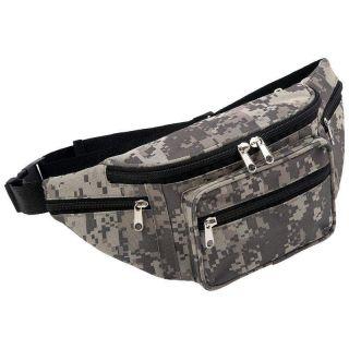 Camo Water Repellent Fanny Pack Waist Bag Camouflage Belt Bag Wallets