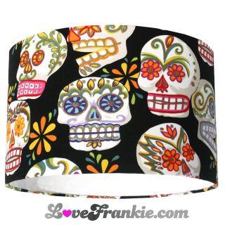 sugar skulls fabric in Fabric