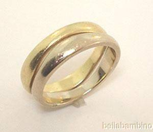 18K CARTIER WHITE YELLOW GOLD LOVE ME RING BAND