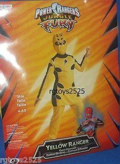 Power Rangers Jungle Fury Yellow Ranger Costume Size 4 6 x New Small S