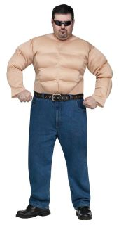 Mens Muscle Chest Padded Shirt Costume Suit Meathead Adult XXL PLUS