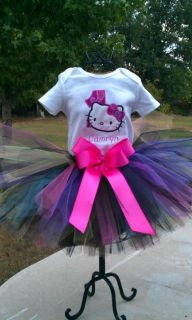 Appliqued, Girls 1st Birthday, Hello Kitty TUTU Outfit