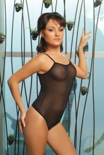 Bodysuit Thin Strap Vest See Through Thong Style