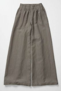 ANTHROPOLOGIE WITH EASE EDME & ESYLLTE LINEN WIDE LEG TROUSER PANTS S