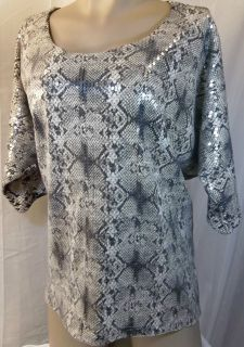 Womens Plus Size Clothing Brown Snake Print Shirt Top Blouse 1X 2X 3X