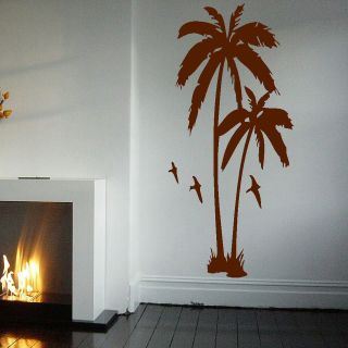 LARGE PALM TREE HALL BEDROOM WALL ART MURAL GIANT GRAPHIC STICKER