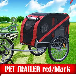 Red Pet Bike Trailer Dog Cat Carrier Bicycle Trailer