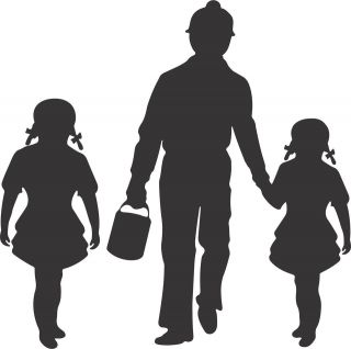 WV, KY, OH, VA, IL Coal Miner and Two Girls Decal Sticker FAST FREE