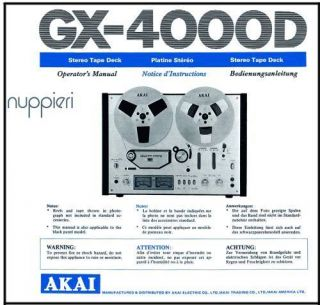 Akai Gx 4000d in Reel to Reel Tape Recorders