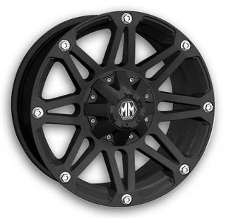 RIOT BLACK RIMS WITH NITTO 33X12.50X18 MUD GRAPPLER TIRES WHEELS