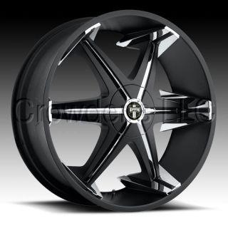 Dub Truck SUV Wheel Rim Big Homie Black 22 inch 5 Lug
