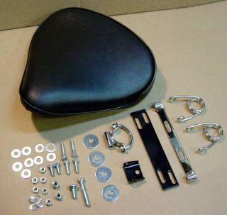 Custom Black Solo Seat Kit for Harley ~ Custom ~ Bobber
