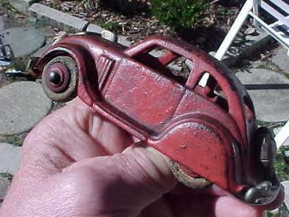 Old Cast Iron Toy Car Rare Hubley Chrysler Airflow Rear Mounted Tire