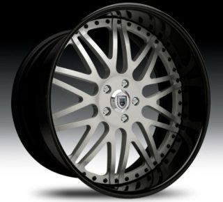 20 Asanti AF120 Black Silver Wheels Rims 2 Piece Tone