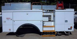 Utility Body Chip Boxes Beds for Bucket Trucks Cranes Digger Derricks