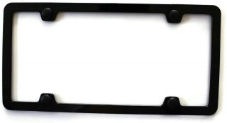 Slim Thin Border Black Metal License Plate Frame Toyota Nissan Tundra