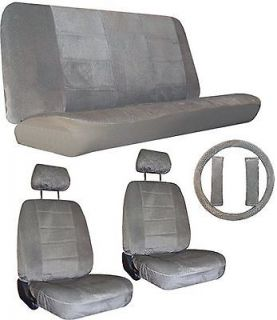 GREY Gray Car Truck SUV Seat Covers LOADED interior package #1 (Fits
