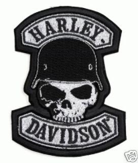 HARLEY DAVIDSON SPIKE SKULL PATCH (XXL) 10 INCH PATCH