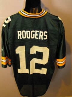 NEW MINOR FLAW #12 Aaron Rodgers Green Bay Packers LARGE L Reebok