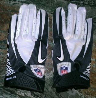 Nike Vapor Jet Football Gloves Black/Gray/White Adult Size M, XXL NFL