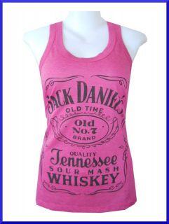 LADY Tank Top Tennessee Whiskey Jack Daniels Free Sz Vintage Print