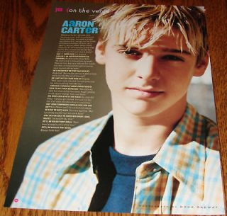 AARON CATER Young Teen Idol PINUP Blond Boy Cute 8X10