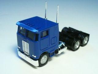 Herpa Promotex HO PB Pete Peterbilt COE Tractor w/ sleeper BLUE 1:87