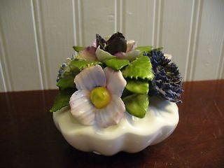 Royal Adderley England Hand Made Bone China Blue & Violet Floral
