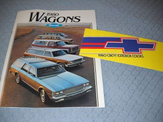 CHEVROLET and MALIBU STATION WAGON BROCHURE, CATALOG & PAINT COLOR