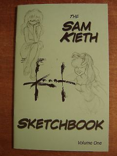 SAM KIETH sketch book volume one signed MAXX custom color original art