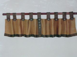 Decor Brown Chenille Micro Suede Valance Window Treatment Curtain