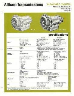 1978 1979 DETROIT DIESEL ALLISON TRANSMISSION Brochure Series MT 643