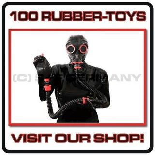 DELUXE 8 PARTS GAS MASK SYSTEM LATEX RUBBER HOOD NO CATSUIT DRESS